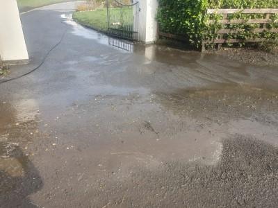 Tarmac Driveway Before Cleaning in Ballinasloe