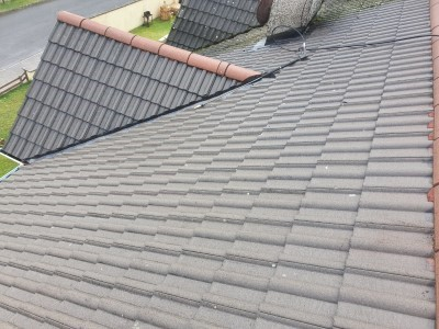 After Roof is Cleaned
