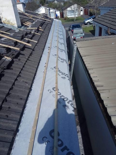 New underlay on roof