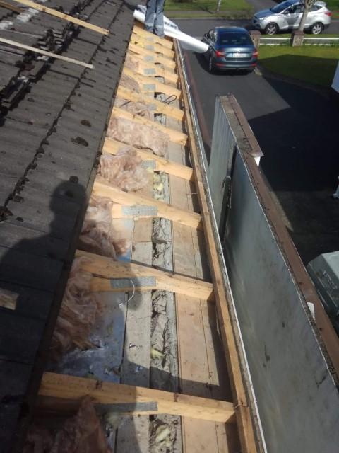 Damaged underlay on roof (2)