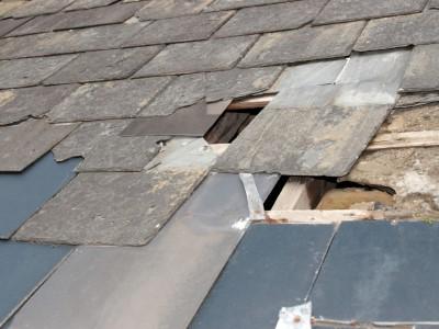Slipped Tiles on Roof