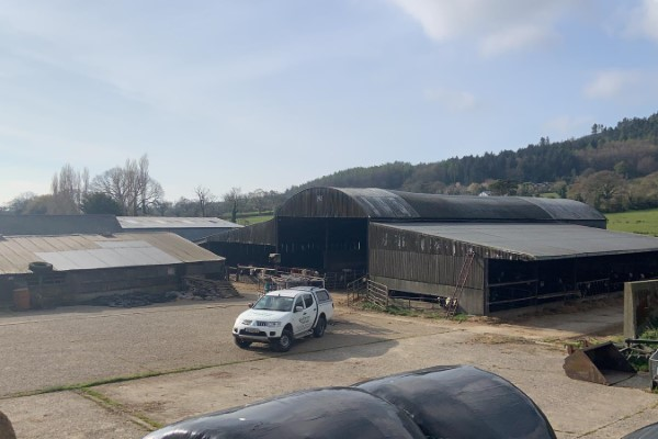 Before Spraying Farm Shed in Carlow