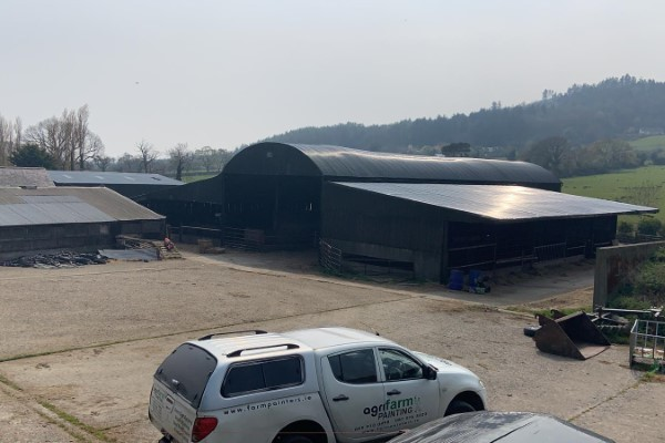 After Spraying Farm Shed in Carlow